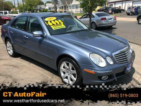 2007 Mercedes-Benz E-Class for sale at CT AutoFair in West Hartford CT