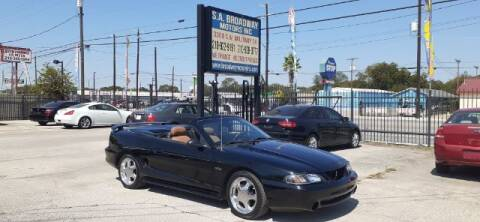 1996 Ford Mustang for sale at S.A. BROADWAY MOTORS INC in San Antonio TX