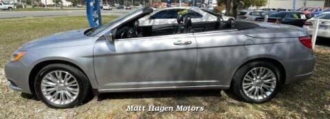 2013 Chrysler 200 Convertible for sale at Matt Hagen Motors in Newport NC