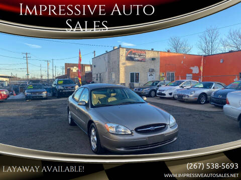 2003 Ford Taurus for sale at Impressive Auto Sales in Philadelphia PA