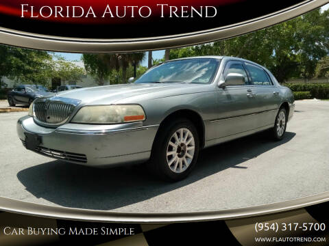 2006 Lincoln Town Car for sale at Florida Auto Trend in Plantation FL