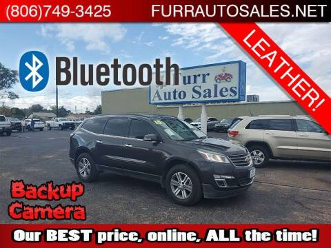 2015 Chevrolet Traverse for sale at FURR AUTO SALES in Lubbock TX