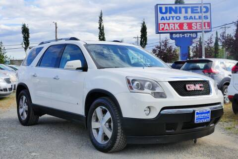 2010 GMC Acadia for sale at United Auto Sales in Anchorage AK