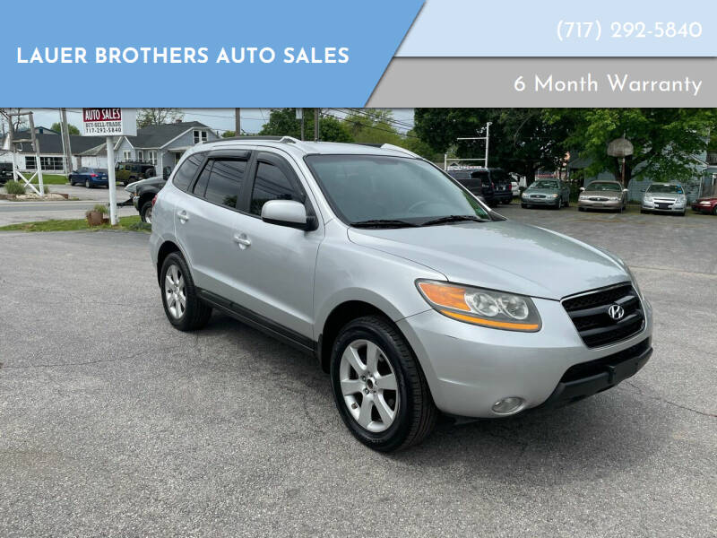 2008 Hyundai Santa Fe for sale at LAUER BROTHERS AUTO SALES in Dover PA