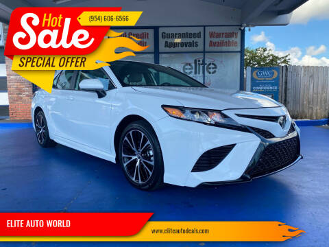 2020 Toyota Camry for sale at ELITE AUTO WORLD in Fort Lauderdale FL