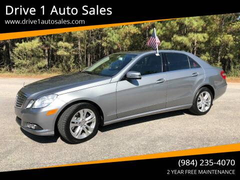2010 Mercedes-Benz E-Class for sale at Drive 1 Auto Sales in Wake Forest NC