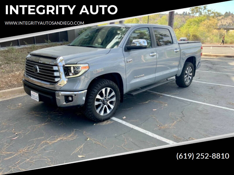 2019 Toyota Tundra for sale at INTEGRITY AUTO in San Diego CA