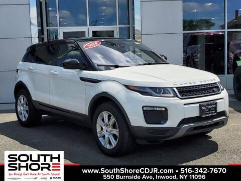 2018 Land Rover Range Rover Evoque for sale at South Shore Chrysler Dodge Jeep Ram in Inwood NY