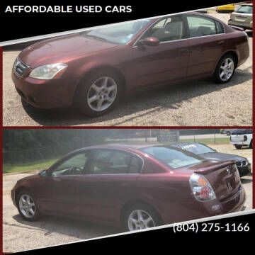 2002 Nissan Altima for sale at AFFORDABLE USED CARS in Richmond VA
