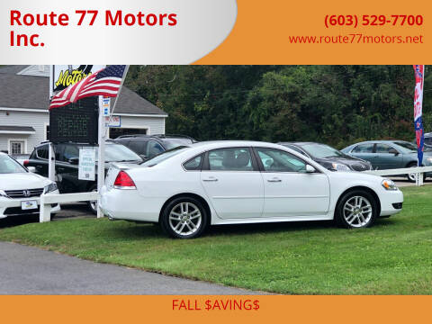 2016 Chevrolet Impala Limited for sale at Route 77 Motors Inc. in Weare NH