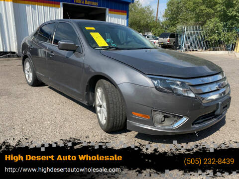 2012 Ford Fusion for sale at High Desert Auto Wholesale in Albuquerque NM