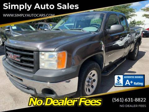 2011 GMC Sierra 1500 for sale at Simply Auto Sales in Palm Beach Gardens FL
