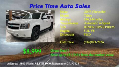 2007 Chevrolet Tahoe for sale at PRICE TIME AUTO SALES in Sacramento CA