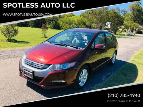 2011 Honda Insight for sale at SPOTLESS AUTO LLC in San Antonio TX