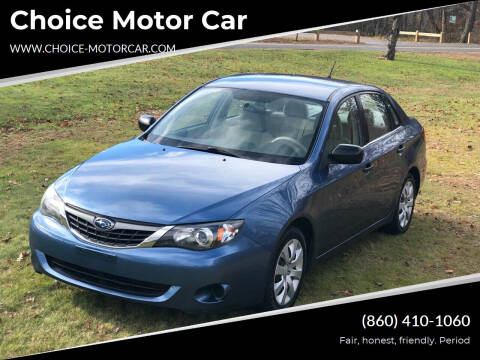 2008 Subaru Impreza for sale at Choice Motor Car in Plainville CT