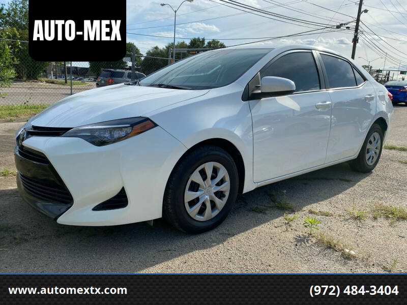 2017 Toyota Corolla for sale at AUTO-MEX in Caddo Mills TX
