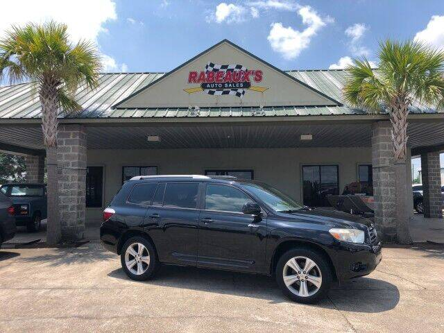 2008 Toyota Highlander for sale at Rabeaux's Auto Sales in Lafayette LA