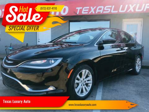 2015 Chrysler 200 for sale at Texas Luxury Auto in Cedar Hill TX