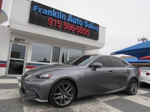 2014 Lexus IS 250 for sale at Franklin Auto Sales in El Paso TX
