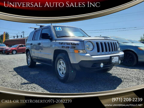 2016 Jeep Patriot for sale at Universal Auto Sales Inc in Salem OR