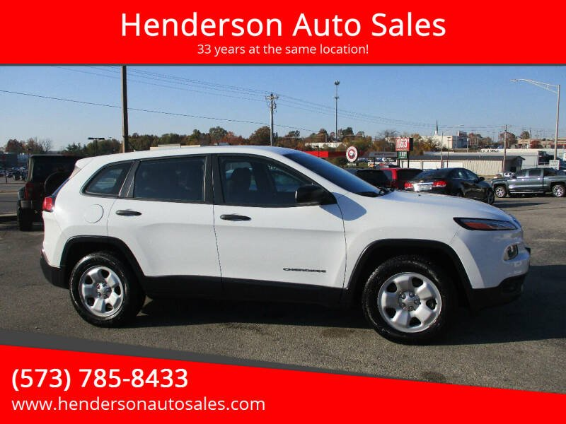 2014 Jeep Cherokee for sale at Henderson Auto Sales in Poplar Bluff MO