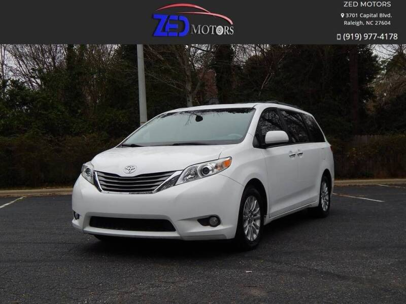 2012 Toyota Sienna for sale at Zed Motors in Raleigh NC