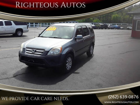 2006 Honda CR-V for sale at Righteous Autos in Racine WI
