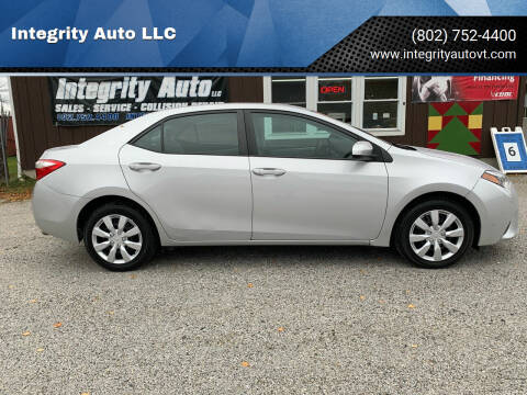 2016 Toyota Corolla for sale at Integrity Auto LLC in Sheldon VT