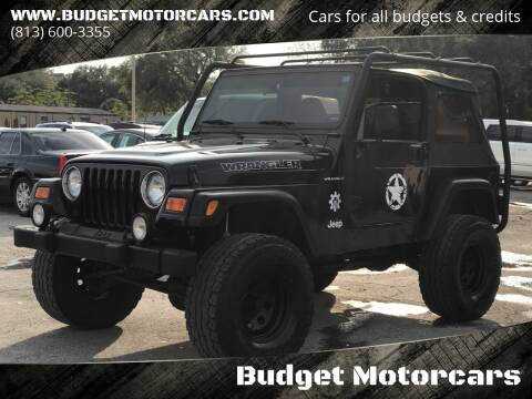2000 Jeep Wrangler for sale at Budget Motorcars in Tampa FL
