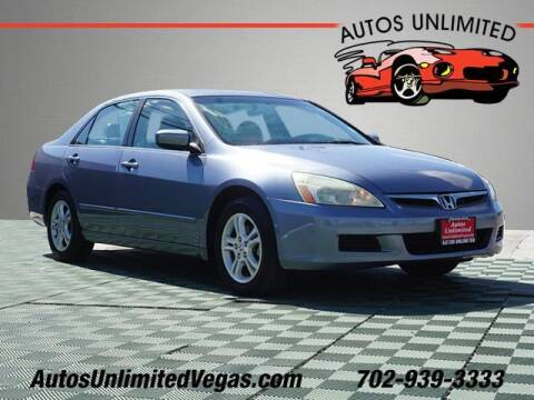2007 Honda Accord for sale at Autos Unlimited in Las Vegas NV