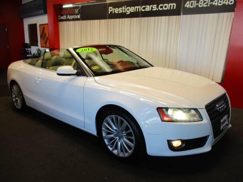 2012 Audi A5 for sale at Prestige Motorcars in Warwick RI