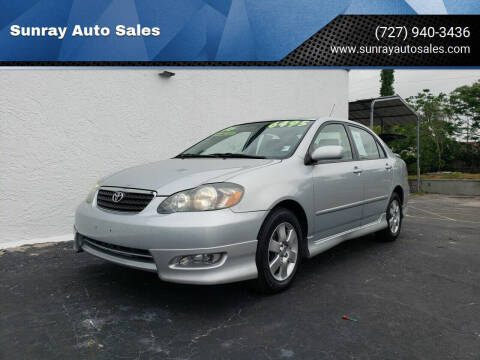 2006 Toyota Corolla for sale at Sunray Auto Sales Inc. in Holiday FL