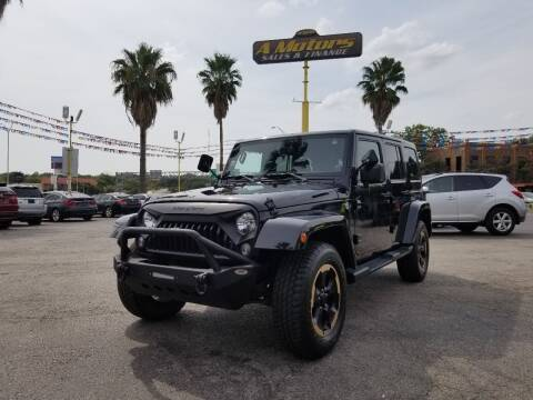2014 Jeep Wrangler Unlimited for sale at A MOTORS SALES AND FINANCE in San Antonio TX