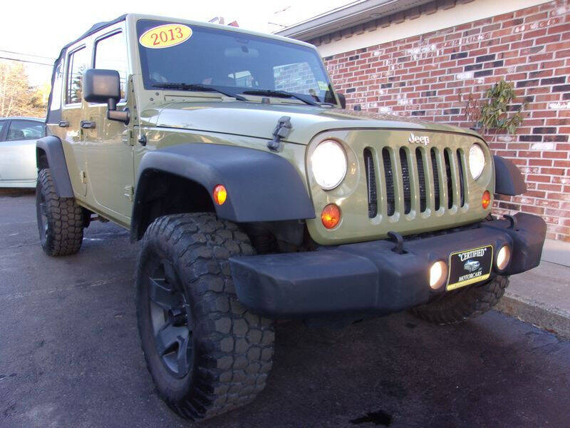 2013 Jeep Wrangler Unlimited for sale at Certified Motorcars LLC in Franklin NH