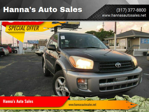 2001 Toyota RAV4 for sale at Hanna's Auto Sales in Indianapolis IN