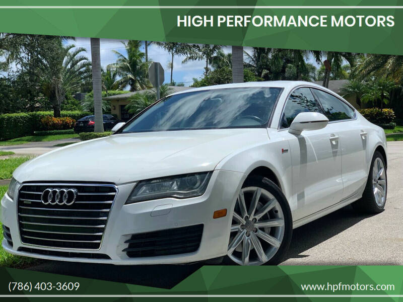 2012 Audi A7 for sale at HIGH PERFORMANCE MOTORS in Hollywood FL