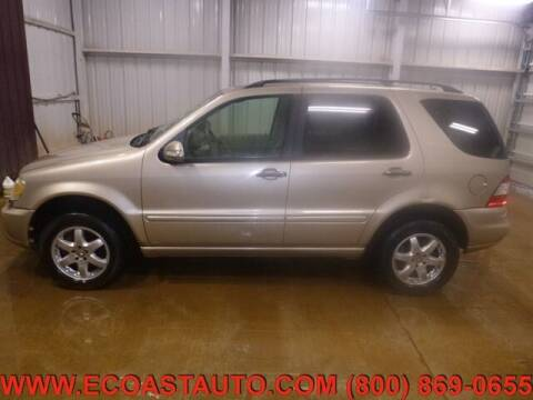 2003 Mercedes-Benz M-Class for sale at East Coast Auto Source Inc. in Bedford VA