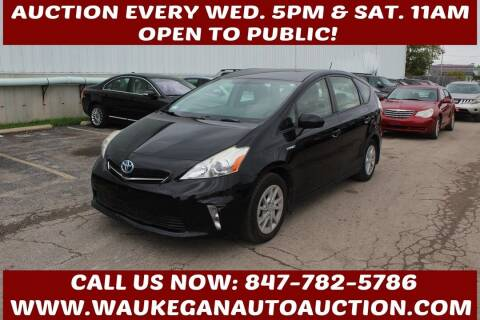 2013 Toyota Prius v for sale at Waukegan Auto Auction in Waukegan IL