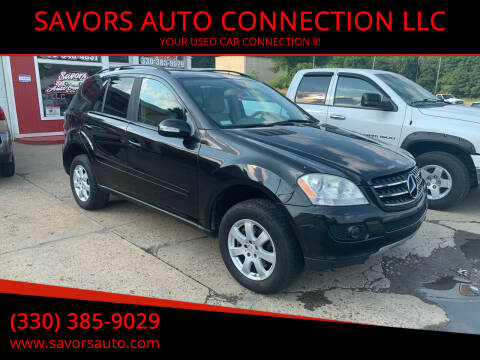 2007 Mercedes-Benz M-Class for sale at SAVORS AUTO CONNECTION LLC in East Liverpool OH