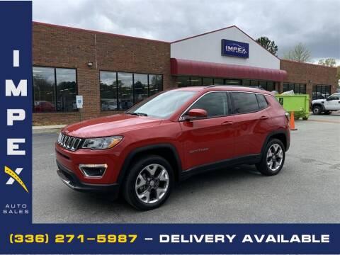 2019 Jeep Compass for sale at Impex Auto Sales in Greensboro NC