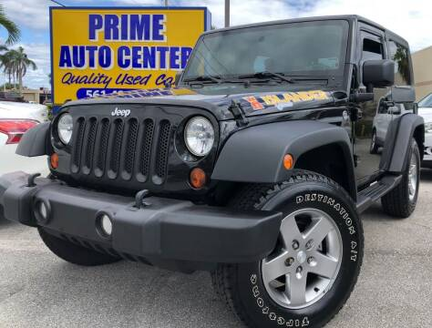 2010 Jeep Wrangler for sale at PRIME AUTO CENTER in Palm Springs FL