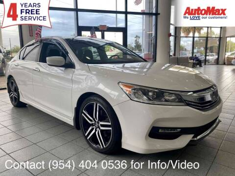 2017 Honda Accord for sale at Auto Max in Hollywood FL