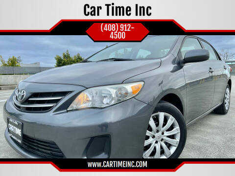 2013 Toyota Corolla for sale at Car Time Inc in San Jose CA