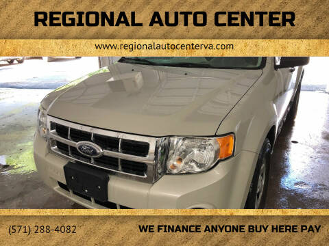 2008 Ford Escape for sale at REGIONAL AUTO CENTER in Fredericksburg VA