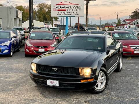 2008 Ford Mustang for sale at Supreme Auto Sales in Chesapeake VA