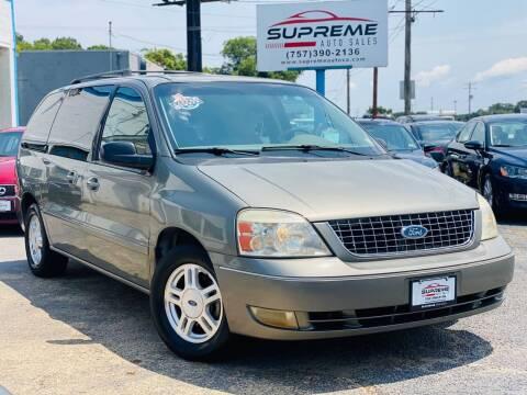2006 Ford Freestar for sale at Supreme Auto Sales in Chesapeake VA
