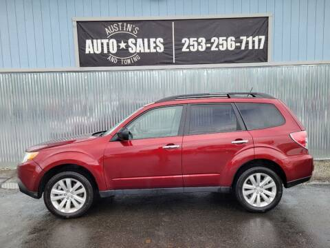 2011 Subaru Forester for sale at Austin's Auto Sales in Edgewood WA
