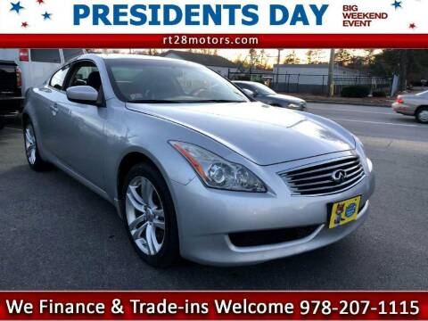 2010 Infiniti G37 Coupe for sale at RT28 Motors in North Reading MA