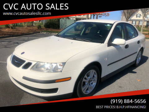 2005 Saab 9-3 for sale at CVC AUTO SALES in Durham NC