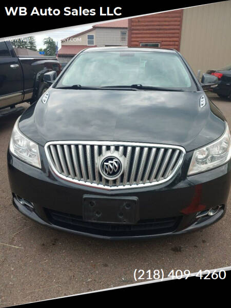 2012 Buick LaCrosse for sale at WB Auto Sales LLC in Barnum MN